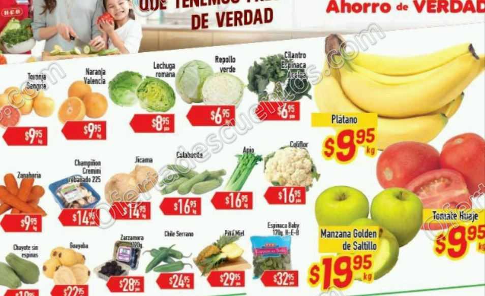 HEB: Tres Días de Frutas y Verduras del 12 al 14 de Abril