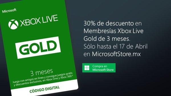 Xobx Live: 30% de descuento en Membresía Gold 3 meses