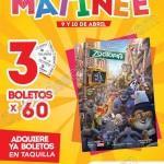 cinemex y zootopia 3 boletos por 60 pesos 9 y 10 de abril OFFDE