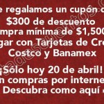 cupon 300 pesos costco OFFDE