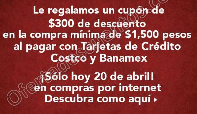 Costco: Cupón $300 de Descuento en Compras de $1,500 o Más Con Banamex