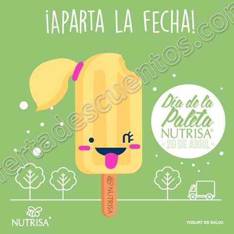 Nutrisa: Miércoles 20 de Abril Día de la Paleta Nutrisa Gratis