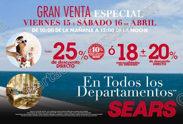 ae9984009 Sears  Venta Especial Sears 15 y 16 de Abril