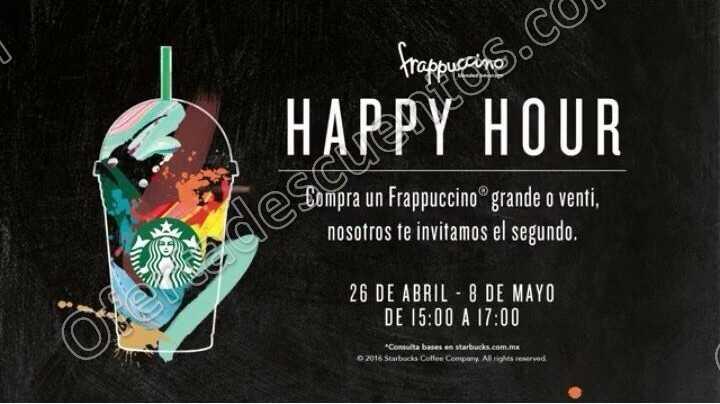 Starbucks: Happy Hour del 26 de Abril al 8 de Mayo