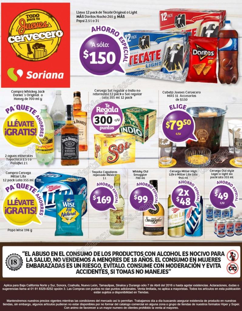Soriana: Jueves Cervecero 7 de Abril
