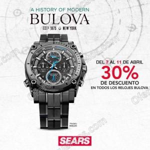 Sears: 30% de Descuento en Relojes BULOVA