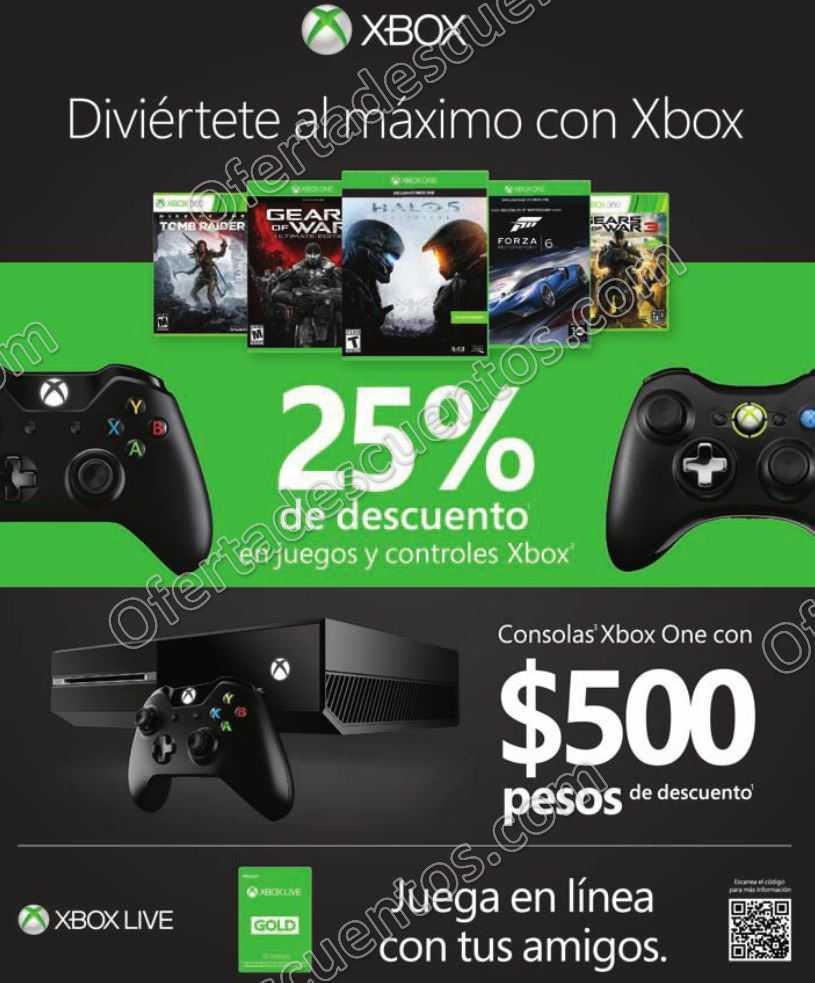 Microsoft: 25% de Descuento en Juegos y Controles y $500 en Consolas Xbox One