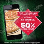 2x1 y medio en pizzas grandes en Dominos pizza OFFDE