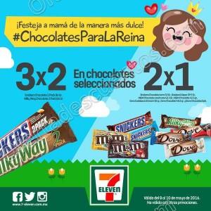 7Eleven: Promoción Día de las Madres 3×2 y 2×1 en Chocolates del 8 al 10 de Mayo