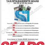 Dias del tarjetahabiente sears del 20 al 23 de mayo OFFDE