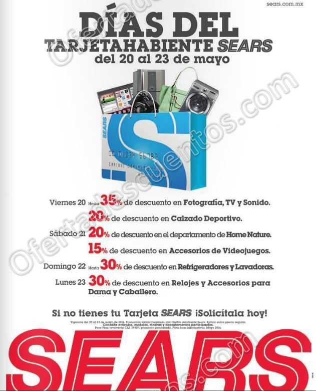 Sears: Días del Tarjetahabiente del 20 al 23 de Mayo