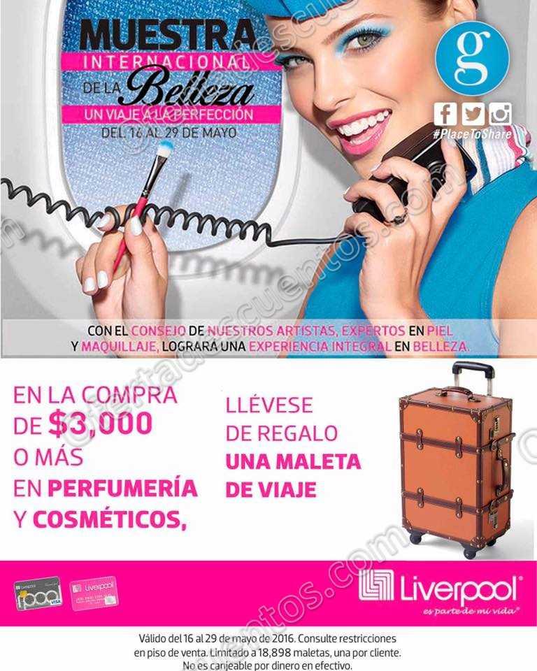 Liverpool: Gratis maleta de viaje al comprar $3,000 o más en perfumería y cosméticos