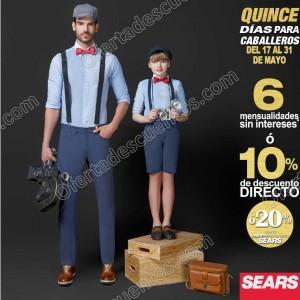 Sears: 15 Días para caballeros del 17 al 31 de Mayo