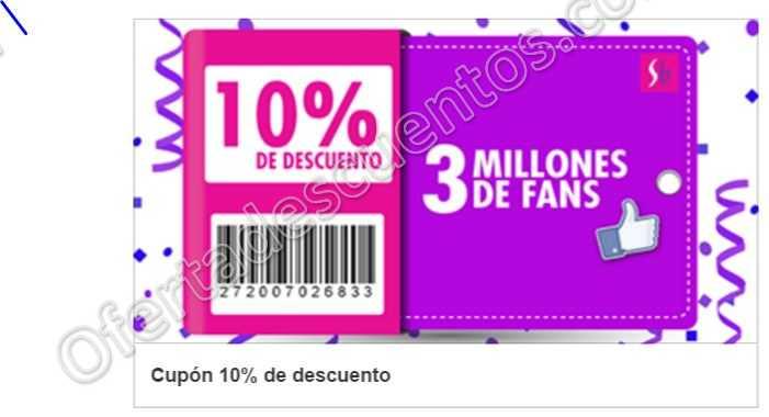 Suburbia: Cupón 10% de descuento en toda la Tienda por llegar a 3 millones de Fans en Facebook