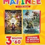 Cinemex 3 boletos por 60 para aliocia y tortugas ninja 2 y 3 de julio OFFDE  2016
