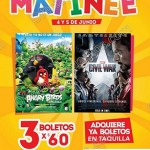 Cinemex 3 entradas por 60 4 y 5 de junioOFFDE