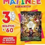Cinemex matinee para alicia a traves del espejo 25 y 26 de junio OFFDE  2016