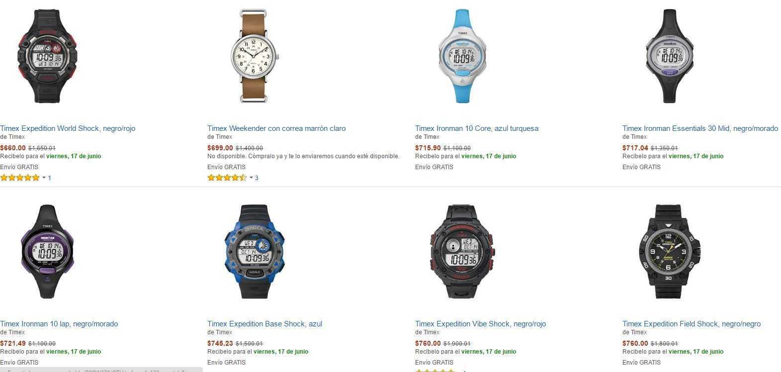 Amazon: Relojes Timex Con Hasta 60% de Descuento