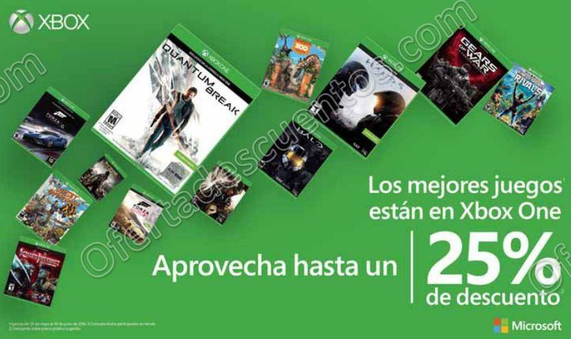 Xbox Live: Hasta 25% de Descuento en Videjuegos de Xbox