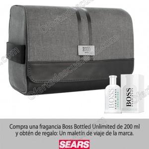 Sears: Compra Boss Bottled Unlimited de 200 ml y obtén de regalo un maletín de viaje