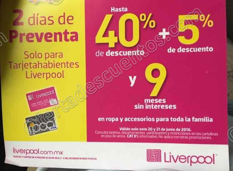 Liverpool: Pre Gran Barata Para Tarjetahabientes Liverpool del 20 al 21 de Junio