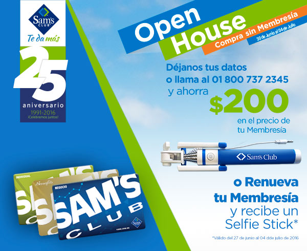 Cool Sams Club Open House Del 30 De Junio Al 4 De Julio 2016