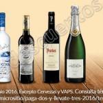 vinos y licores al 3x2 en superama OFFDE