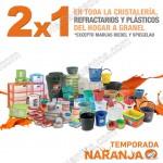 2x1 en cristaleria refractarios y platicos para el hogar en la comer OFFDE