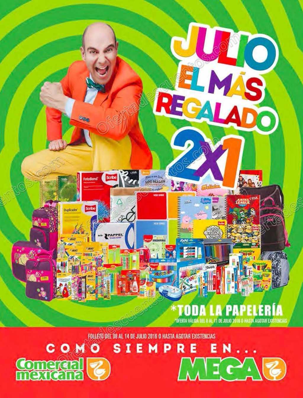 Julio Regalado 2016 Comercial Mexicana: Folleto de Ofertas del 8 al 14 de Julio