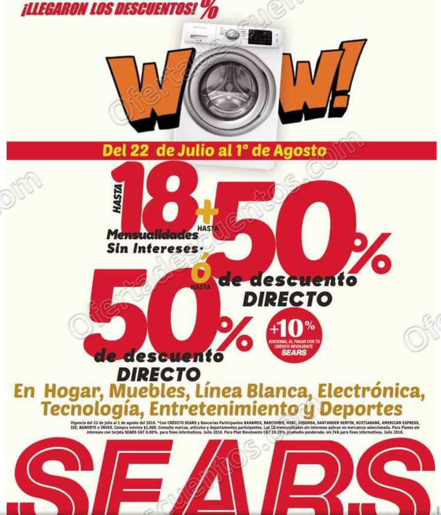 Sears: 50% de Descuento y 18 Meses Sin Intereses en Hogar ...