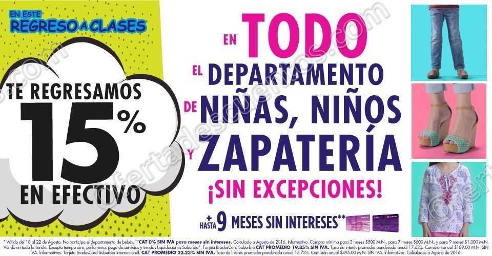 eafe4673a0751 Suburbia  15% en efectivo en todo el departamento de niños
