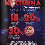Samborns Venta Nocturna 25 y 26 de Agosto OFFDE