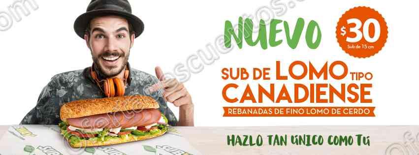 Subway: Nuevo Sub con Lomo de Cerdo Tipo Canadiense a sólo $30