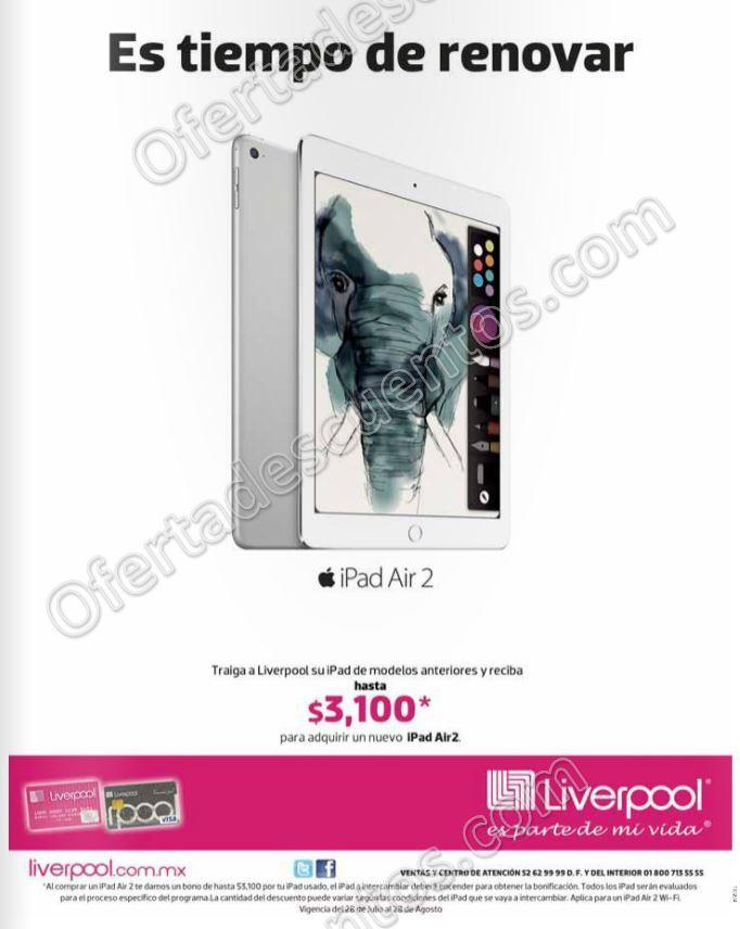 Liverpool: Cambia tu iPad Viejo por un iPad Air 2 Nuevo