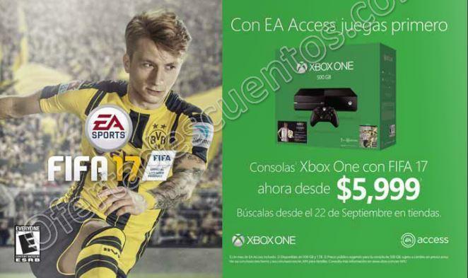 Xbox Live: Xbox One con Fifa 17 desde $5,999