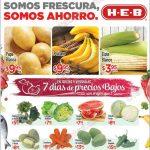 Frutas y verduras en HEB del 6 al 8 de septiembre OFFDE