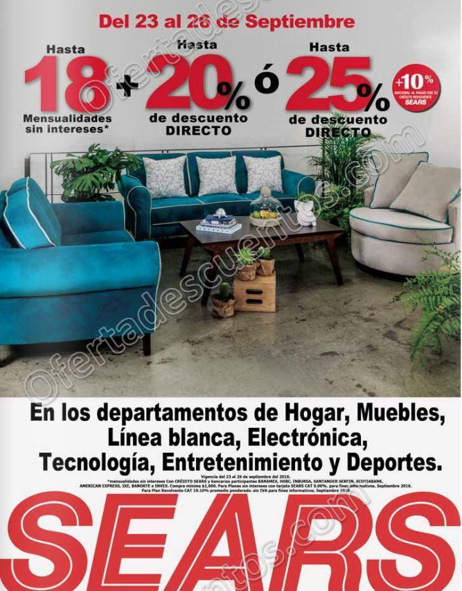 Sears: Hasta 25% de descuento en Hogar, Muebles Electrónica, Línea ...