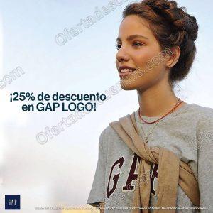 GAP: Hasta 25% de descuento en GAP Logo al 25 de Septiembre