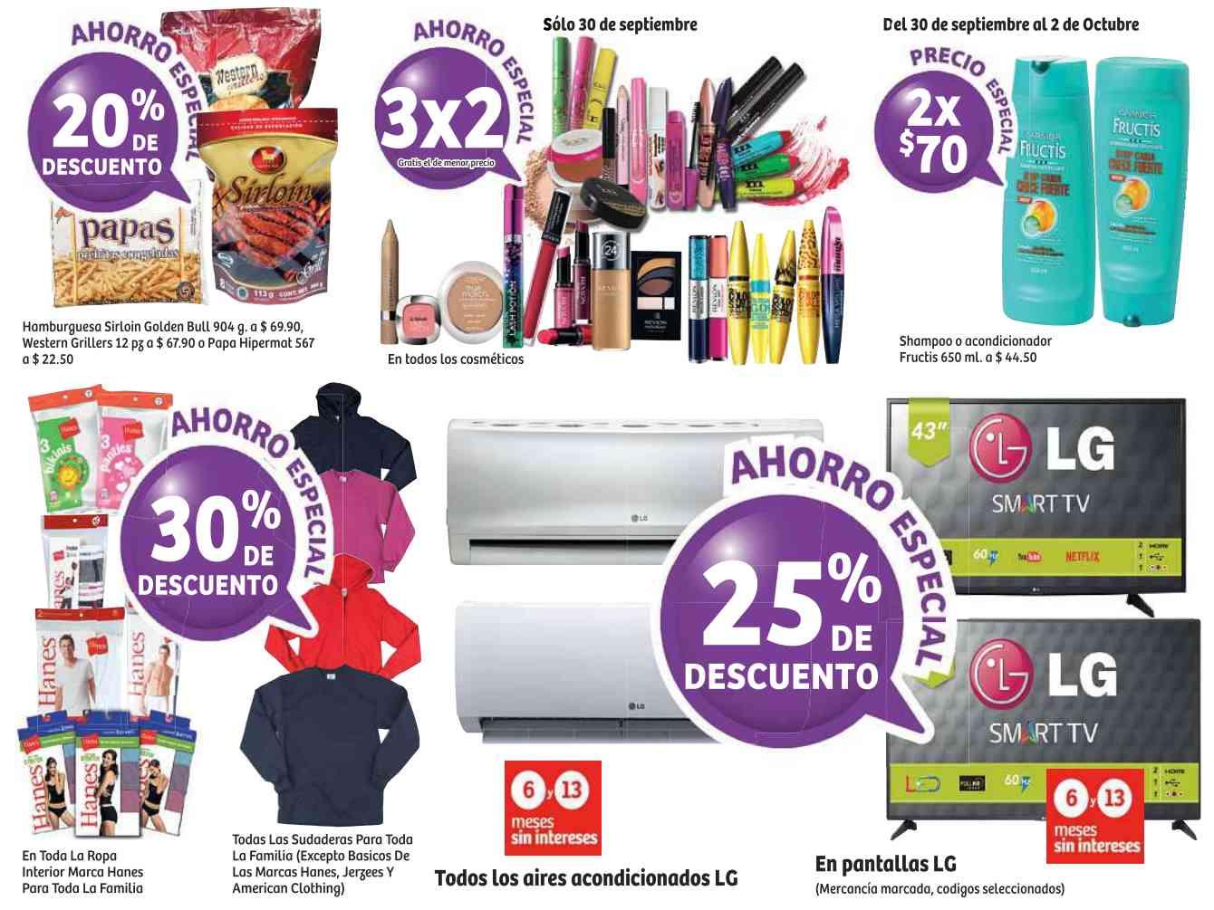 Soriana: Promociones de Fin de Semana del 30 de Septiembre al 3 de Octubre