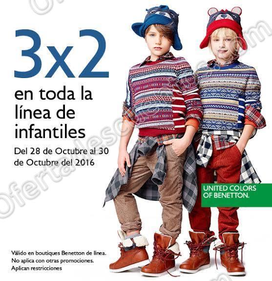 Benetton: 3×2 en toda la línea de Infantiles del 28 al 30 de Octubre