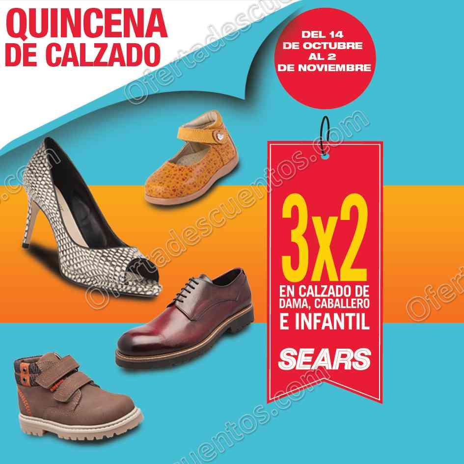 Sears Quincena del Calzado: 3×2 en calzado para Dama, Caballero y Niños del 14 de Octubre al 2 de Noviembre