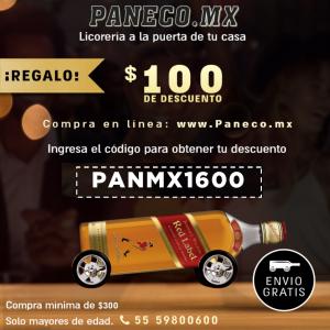 Paneco: $100 Descuento Whisky, Tequila, Vodka, Ron y más