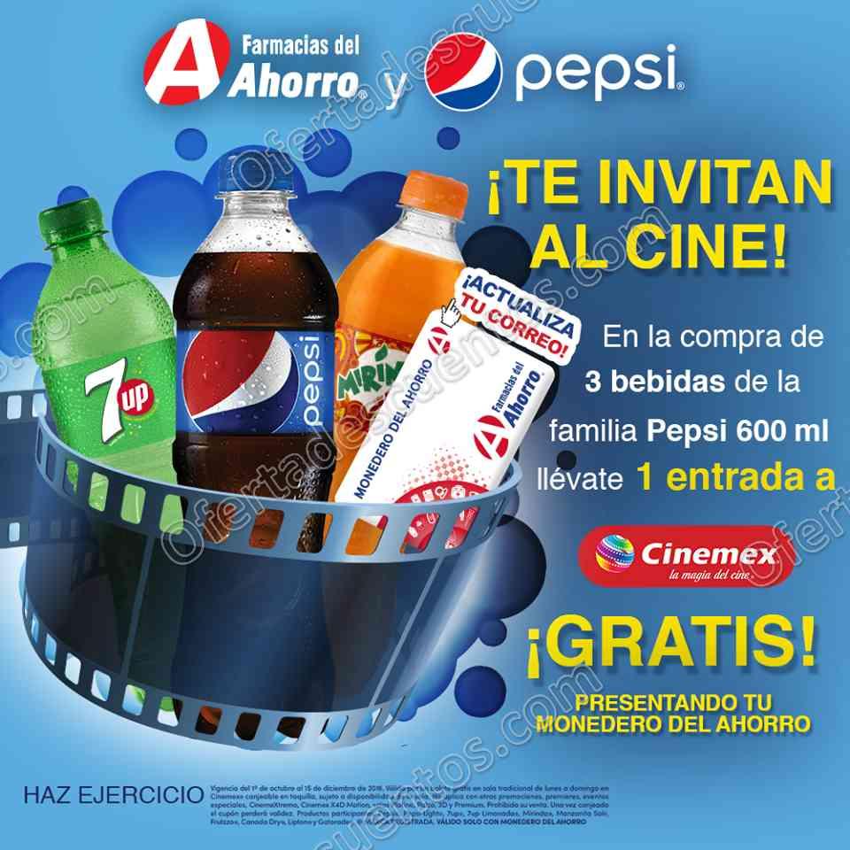 Farmacias del Ahorro y Pepsi te invitan al Cine: Llévate una Entrada a Cinemex Gratis