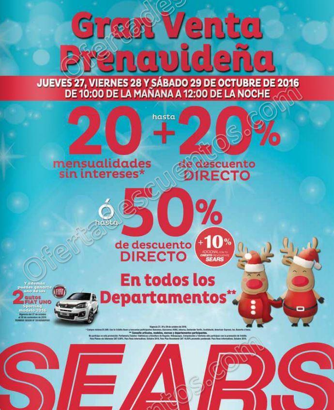 Gran Venta Prenavideña Sears: Hasta 50% de descuento en todos los departamentos del 27 al 29 de Octubre