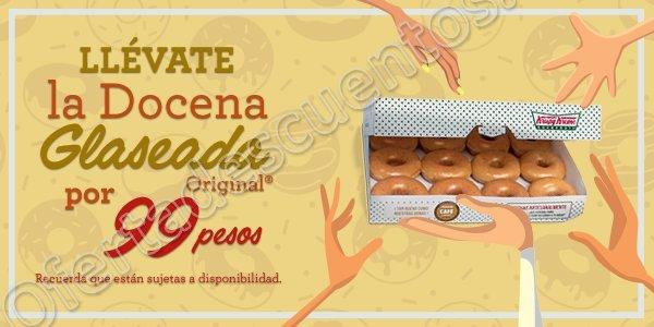 Krispy Kreme: 12 Donas Glaseadas Original por $99 sólo 12 de Octubre