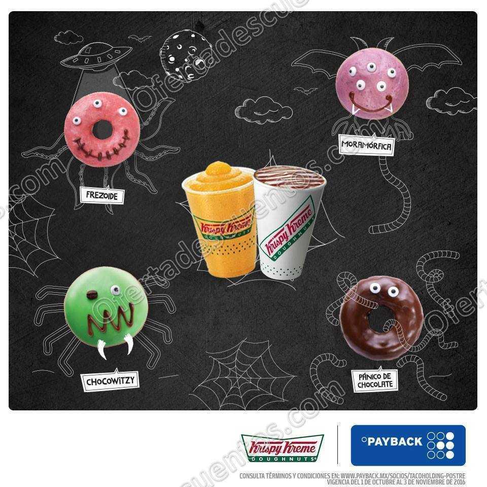 Krispy Kreme: Bebida Gratis al Comprar una docena de Donas Select y pagar con Monedero Payback