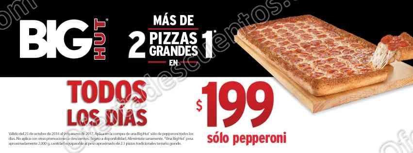Pizza Hut: Big Hut de Pepperoni a $199 todos los días