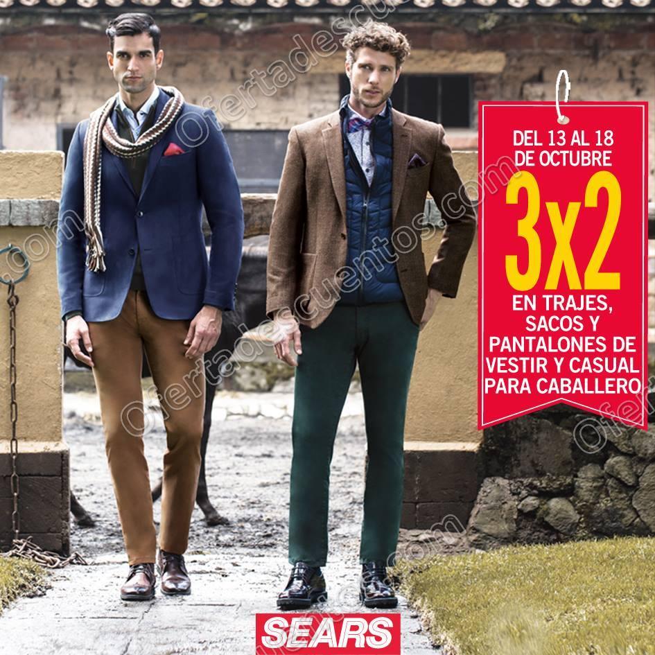 Sears: 3×2 en Trajes, Sacos, Pantalones de Vestir y Casual para Caballero del 13 al 18 de Octubre