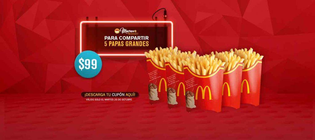 Cupones de Martes de McDonald's 25 de Octubre