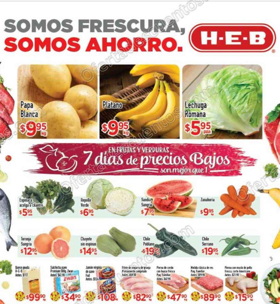 HEB: Tres Días de Frutas y Verduras del 11 al 13 de Octubre